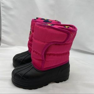 Polo Snow Boots, pink and Black for Toddler